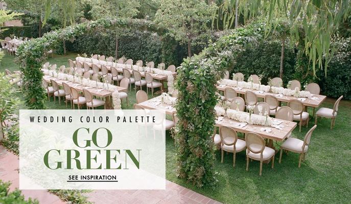 Wedding decor with green