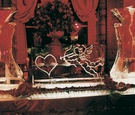 Martini ice bar engraved with cupid shooting heart