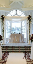 Disney's Wedding Pavilion ceremony with red roses