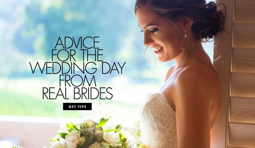 wedding advice from real brides, wedding planning tips