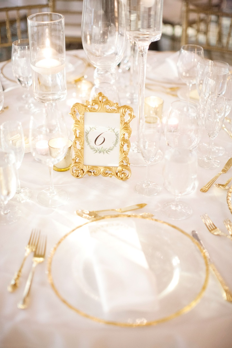 Invitations More Photos Table Number In Ornate Gold Frame