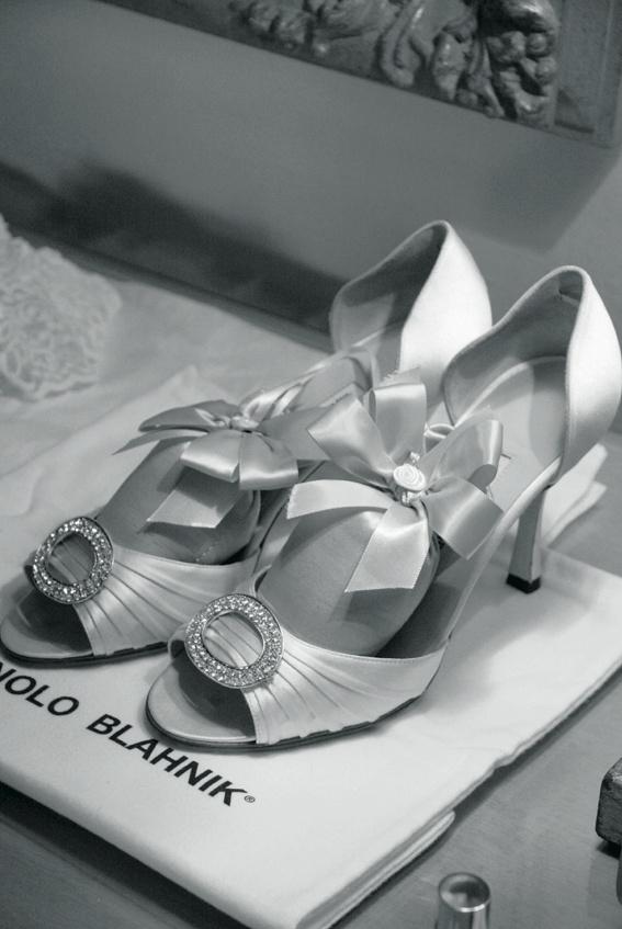 Manolo Blahnik bridal pumps