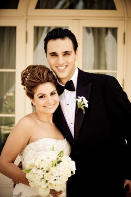 Armenian woman and man on wedding day