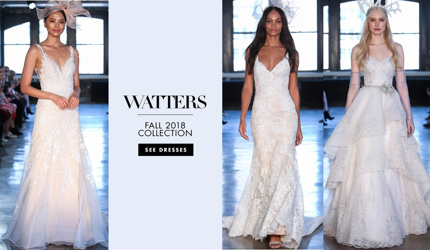 Watters, Willowby by Watters, Wtoo by Watters fall 2018 bridal collections wedding dresses