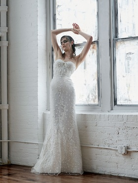 Isabelle Armstrong Fall 2018 bridal collection strapless fit and flare gown with beading
