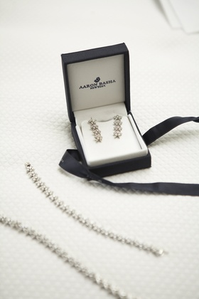 matching diamond earrings and bracelets