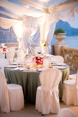 Wedding reception overlooking Lake Como
