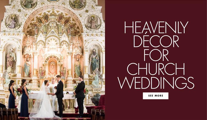 Heavenly decor for church weddings house of worship sanctuary church wedding ideas