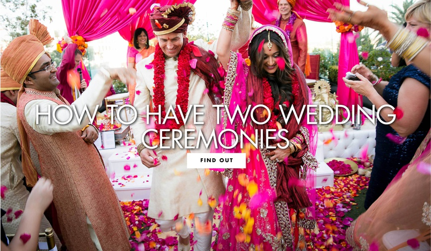 how to have two wedding ceremonies wedding ideas