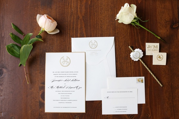 gold and white invitations, simple invitations andrew jackson seal hermitage seal