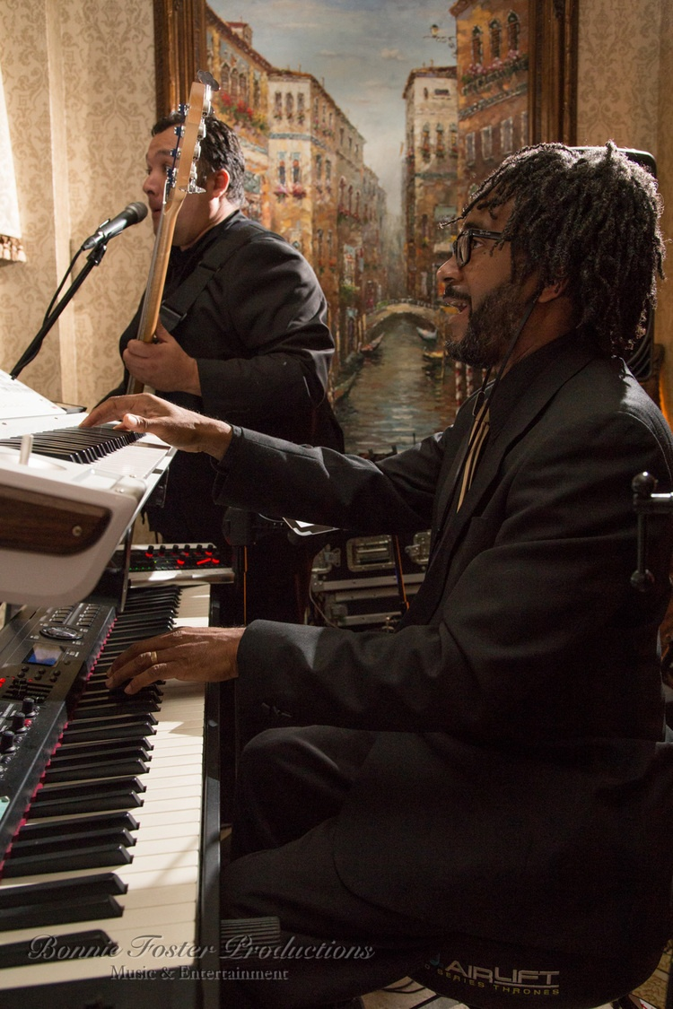 African American man playing the piano