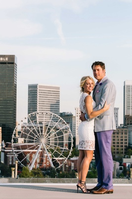 detriot lions quarterback matthew stafford kelly hall rehearsal dinner couple portrait