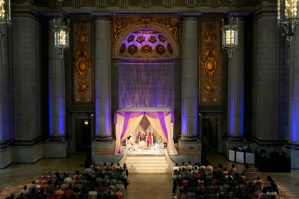 wedding and reception in The Andrew Mellon Auditorium