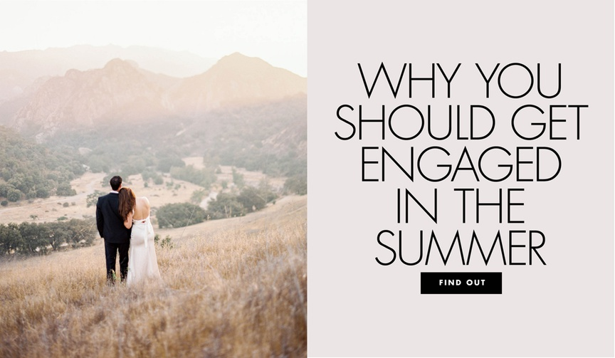 why should you get engaged in the summer is it the new engagement season