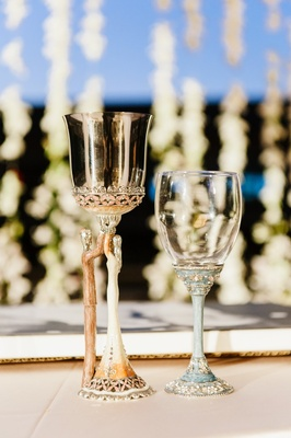 opulent gold kiddush cup for jewish wedding