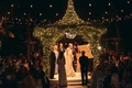 Outdoor Jewish ceremony and ketubah