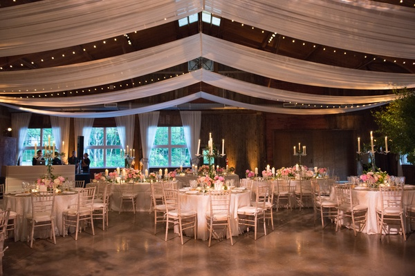 rustic wedding venue with classic decor