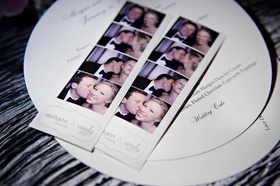 Morgan Pressel and Andrew Bush in photo booth strip