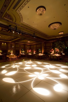 Grand Del Mar ballroom white dance floor lighting
