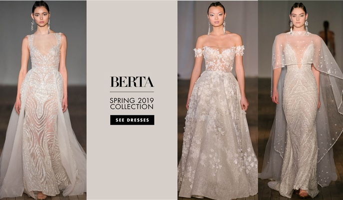 5d315d54 Berta spring 2019 bridal collection wedding dresses bridal gowns sheer sexy  styles
