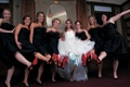 Bride and bridesmaids show off Christian Louboutin heels