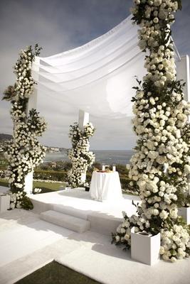 Montage Laguna Beach wedding canopy
