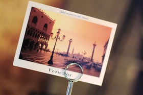 Venice, Italy post card table number