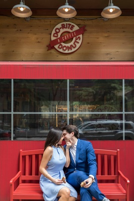 Julie and Ryan did their engagement session in Chicago's loop, near where both of them work in Daley
