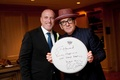 Personalized autograph for groom by Elvis Costello