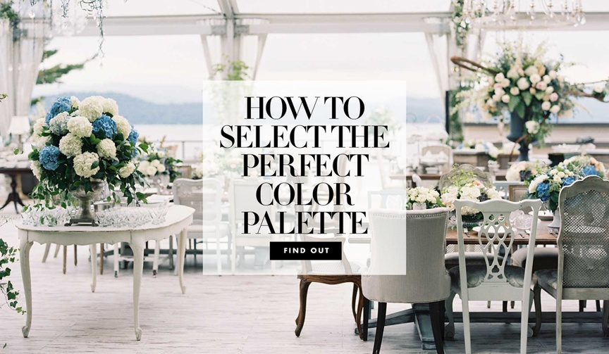 deciding on the color palette for your wedding