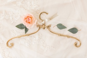 Bride hanger wedding getting ready filigree antique inspired gold hanger clothing wedding gift ideas