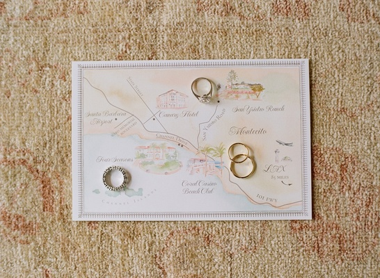 Lehr and Black custom wedding map Santa Barbara