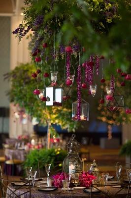 lanterns, candles, reception lighting