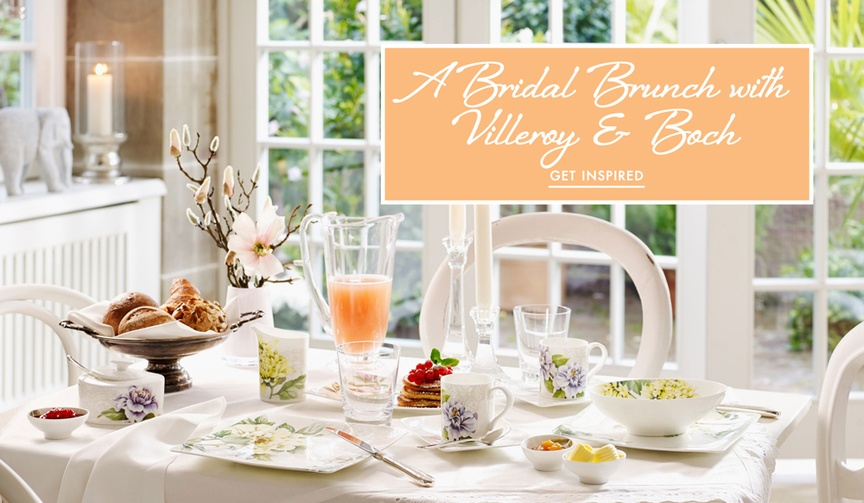 Get ideas for a spring bridal brunch with your bridesmaids from Villeroy & Boch!