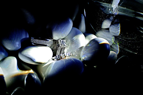 Jarett Dillard diamond men's wedding band with rings