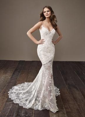 Badgley Mischka Bride 2018 collection wedding dress Blair sheer skirt bridal gown