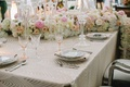 luxe linen cream cleopatra white pink flower runner mirror menu china
