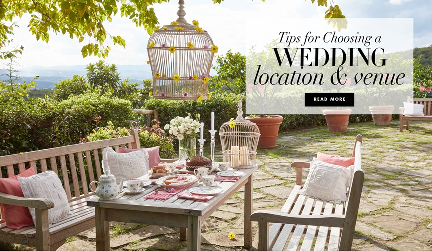 Tips for choosing a wedding location and venue by Villeroy & Boch