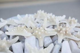 grey starfish with sarah leonard wedding rings