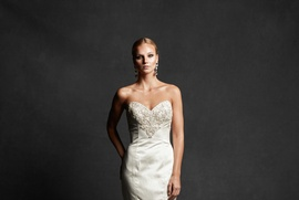Ava gown with mermaid skirt and beaded bodice by Isabelle Armstrong Fall 2016