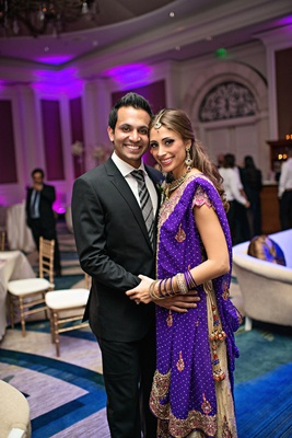 Brazilian bride with Indian groom at reception