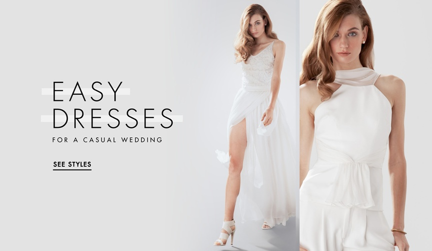 Casual wedding dress options for brides
