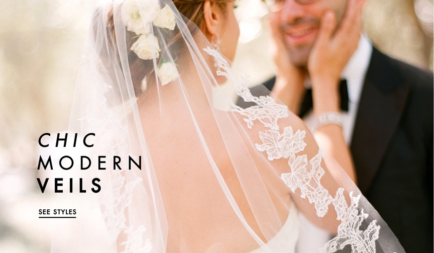 How to wear a veil on your wedding day and still look modern