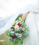 red blush flowers bouquet foliage sprigs celtic wedding styled shoot