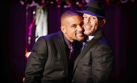 Gay wedding couple Insanity creator Shaun T and husband