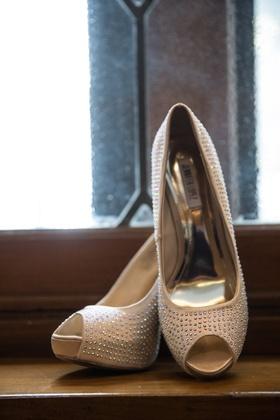 Jennifer Lopez peep-toe pumps with crystals
