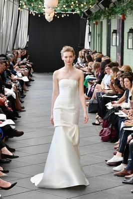 e3a6a2dc9a Nouvelle Amsale spring 2019 bridal collection wedding dress Rosa strapless  mikado trumpet gown bow.