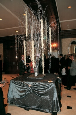 Crystal and orchid tree in Townsend ballroom