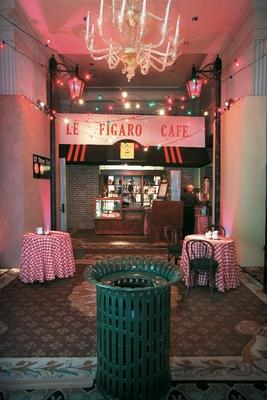 New York City Le Figaro Cafe set design