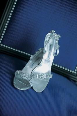 Bridal heels with rhinestone details